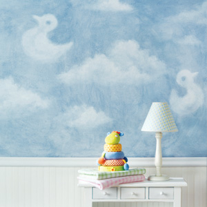 how to paint clouds on a wall off the wall. Black Bedroom Furniture Sets. Home Design Ideas