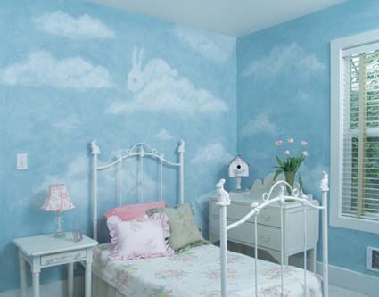 How To Paint Clouds On A Wall Off The Wall