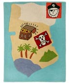 Pirate map rug