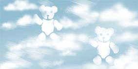 Teddy clouds for nursery