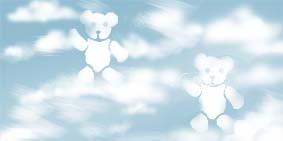 Teddy clouds for nursery