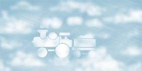 train shapes clouds