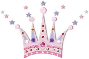 Princess crown mural with embellishments