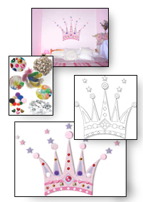 Princess crown e-mural contents