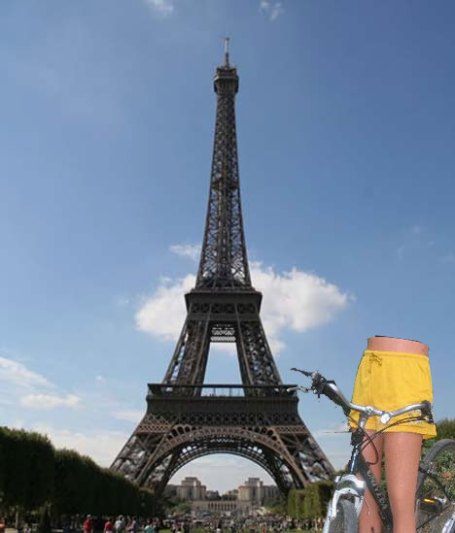 Leggy gal in Paris