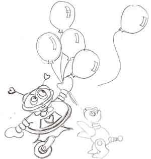 robot-balloons-dog