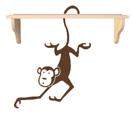 monkey-shelf
