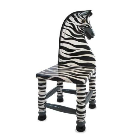 how to paint a zebra striped chair off the wall. Black Bedroom Furniture Sets. Home Design Ideas