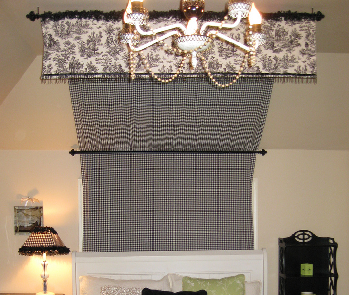 Diy bed canopy off the wall for Canopy over bed
