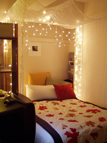 The lovely side do it yourself bed canopies for Bedroom hanging lights
