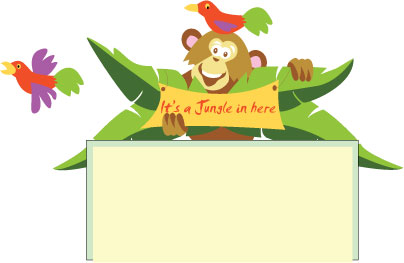Little Monkey Murals a Cheeky Little Monkey