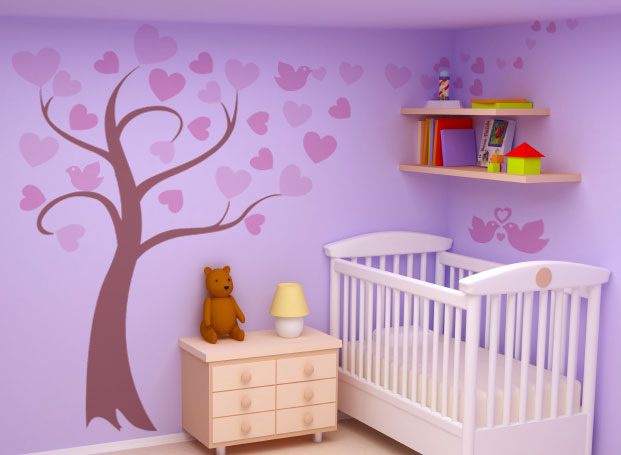 Awesome Paint by number Tree wall mural