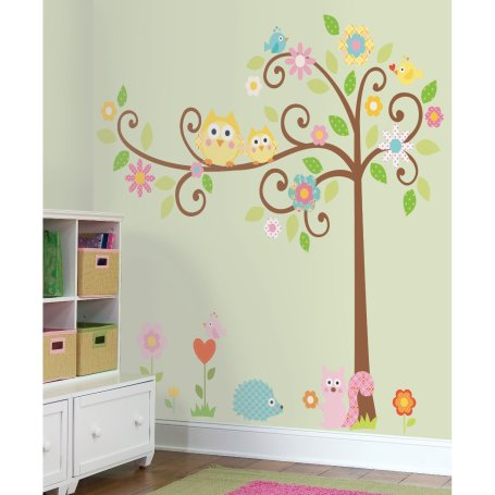 Room mates tree wall decal