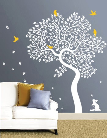 Spectacular The Bunny Tree Vinyl Wall Decal WowWall