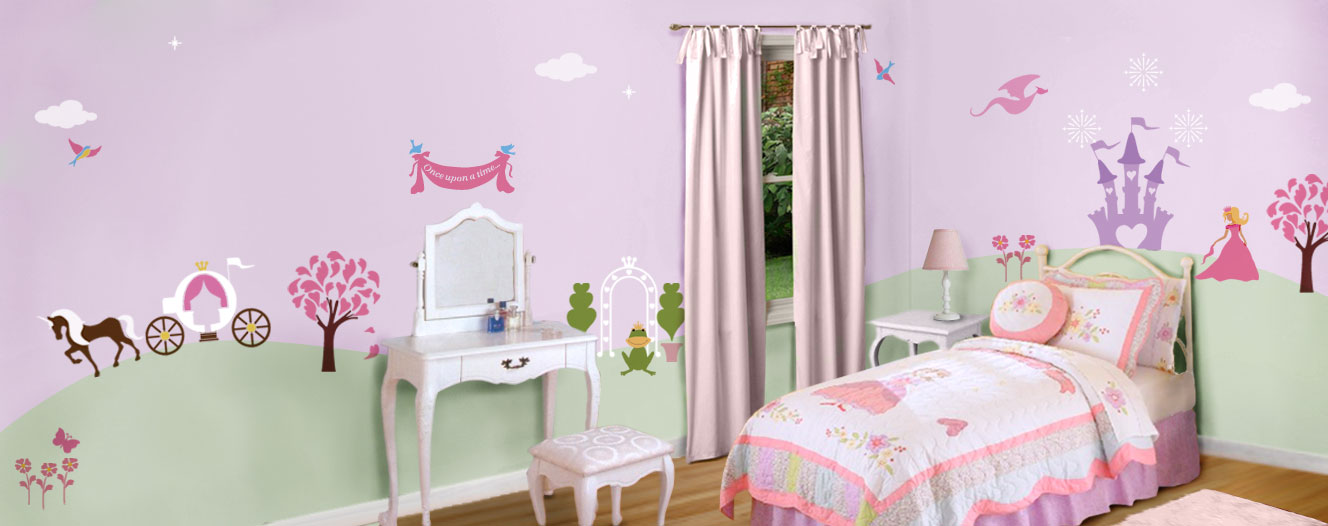 Princess Room : Perfectly Princess Room (Self adhesive mural stencils)
